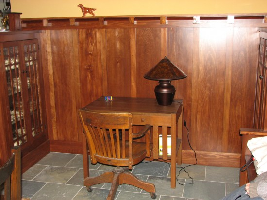Arts and Crafts Style Desk cubby