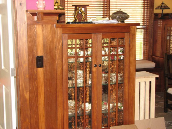 Arts and Craft Style display case