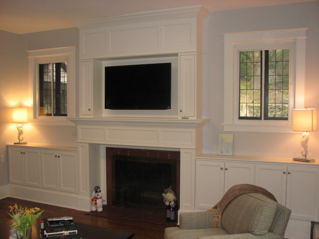 Dove White Fireplace Built-in