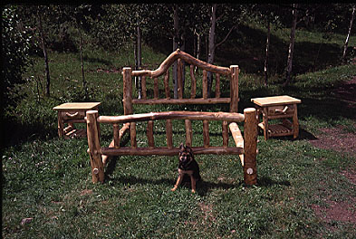 Aspen Log Bed, King
