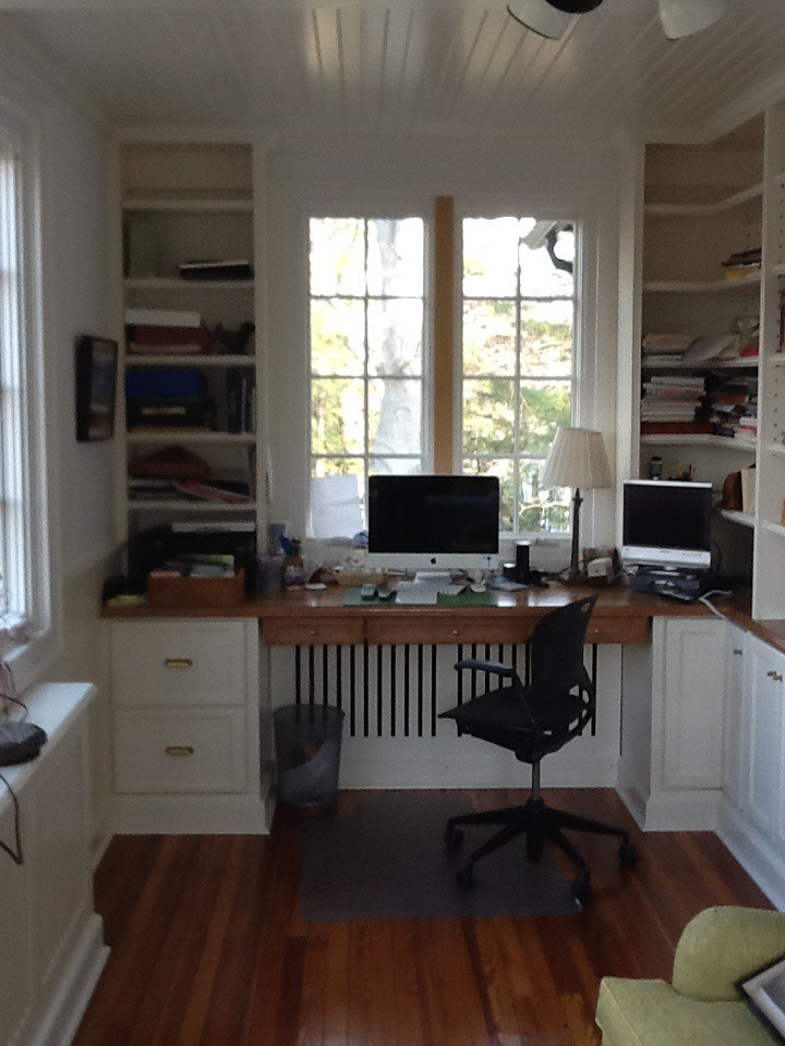 Built-in Cabinets with Cherry Desk Top